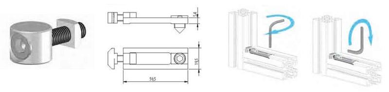 Fissaggio a nottolino tornito buzzi for Raccordo in acciaio verticale
